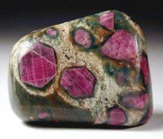 "Ruby on Zoisite ????    This is what prior pinner listed as but I'm unsure if that's correct as ruby is usually not formed and shaped/usrd in this manner. Please ""Comment"" if you have any corrections, Thanks RC"