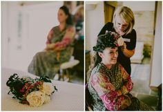 No boho festival wedding would be complete without a elegant floral crown #weddinghair #floralcrown #boho #festivalwedding Images by Lucabella. www.lucabella.co.uk