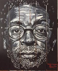 SPIKE LEE BY MUÑOZCERVERA OIL ON WOODEN