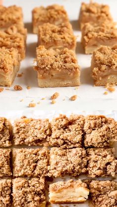Apple Crisp Bars are easy to make from scratch—promise. This recipe uses a basic shortbread crust topped with apple slices and a simple flavorful crisp. Apple Crisp Bars Recipe, Apple Crisp Cheesecake, Apple Crisp Easy, Apple Crumble Recipe, Apple Crisp Recipes, Apple Crisp Without Oats, Apple Crisp Pizza, Apple Recipes Easy Quick, Apple Strudel Recipe From Scratch