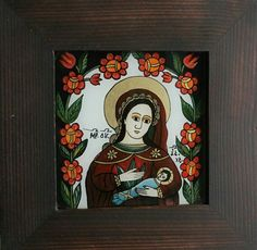 Christian Paintings, Byzantine Icons, Religious Art, Folk Art, Medieval, My Arts, Traditional, Embroidery, Frame