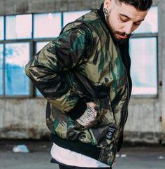 Cool camo bomber jacket for men fleece green zipper baseball jacket