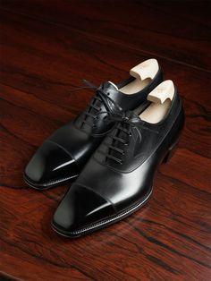Handmade Leather Shoes, Shoe Tree, Leather Cap, Formal Shoes, Black 7, Black Shoes, Calves, Oxford Shoes, Dress Shoes