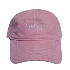 6a535011f7734 New Ladies Pink Hat with either white or navy tarpon logo! Reel Fishy Tarpon  fishing unstructured hats are available in a wide variety of colors and  styles!