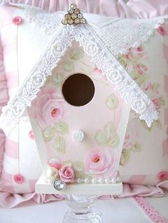 ///Sweet n Shabby Birdhouse by sweetnshabbyroses, via Flickr