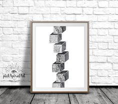 Geometric Minimalist Wall Art, Black & White Poster, Printable Wall Art, Modern Geometric Poster, Abstract, Graphic Design, Instant Download by pickApixelArt on Etsy