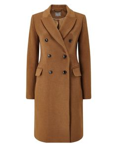 Phase Eight Caterina Crombie Coat Neutral