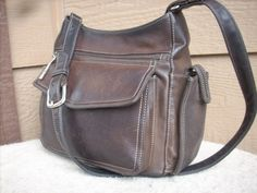 Fossil women purse Brown Shoulder bag Leather #Fossil #ShoulderBag