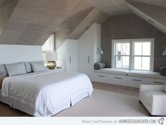 slanted ceiling bedroom | 15 Charismatic Sloped Ceiling Bedrooms | For the Home
