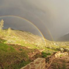Gorgeous #rainbow over Smuggler Mtn in #Aspen just now. #GoPro #hero4 by steepskiing