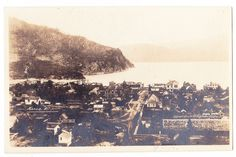 BC – KASLO, Town View with Kootenay Lake, Gowen c.1920-1925 RPPC