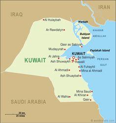 Detailed tourist map of Kuwait Kuwait detailed tourist map