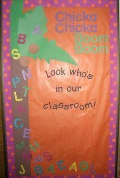 Chicka Chicka Boom BoomA told B … | 29 Awesome Classroom Doors/Bulletin Board Ideas