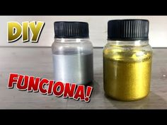 How to make gold and silver paint at home. Acrylic Painting Techniques, Diy Painting, Diy Resin Mold, Easy Crafts, Diy And Crafts, Decoupage, How To Make Glitter, Silver Paint, Make Color