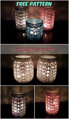 Crochet Jar Covers Free Pattern