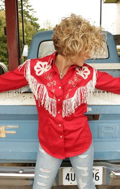 STAGGER LEE pearl snap - RED - Junk GYpSy co.