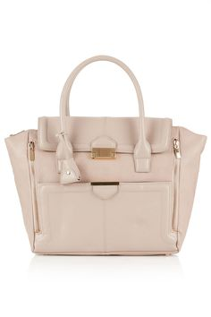 #Topshop Winged Pushlock Tote