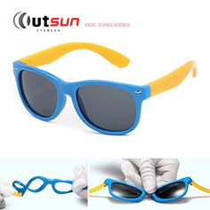OUTSUN Kids Polarized Rubber Sunglasses UV400 - Boy Girls Multiple Colors 052e51e3a2
