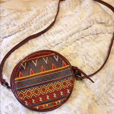Boho circle purse Boho purse never used- bought it around Christmas time Bags