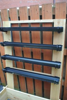 Vertical Gardens DIY Strawberry Guttering 5 - If you want to grow some strawberries this year, but you don't have a lot of space in your garden, then give this DIY Strawberry Guttering a try - it's cheap to make too. Jardim Vertical Diy, Vertical Garden Diy, Vertical Gardens, Raised Vegetable Gardens, Veg Garden, Garden Beds, Balcony Garden, Vegetable Gardening, Vegetable Planters