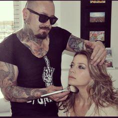 Make up : LEONARDO MONTAÑO  con la hermosa actriz -erika glasser