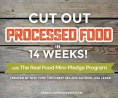 Hi, my name is Lisa, and I'm so glad you're here because that means you have an interest in real food! Whether you're brand new to cutting out processed fo