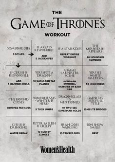 Game of Thrones workout | Posted By: AdvancedWeightLossTips.com