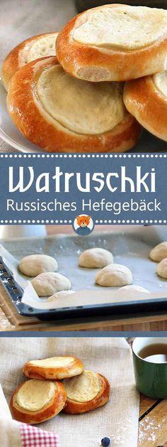 Diese typisch russischen Brötchen mit Quark-Füllung sind wirklich sehr traditionell. Die Watruschki sind süß und köstlich. Außerdem benötigt man nur wenig Zutaten und es ist daher auch ein sehr günstiges Dessert! #russisch #quarkbrötchen #watruschki