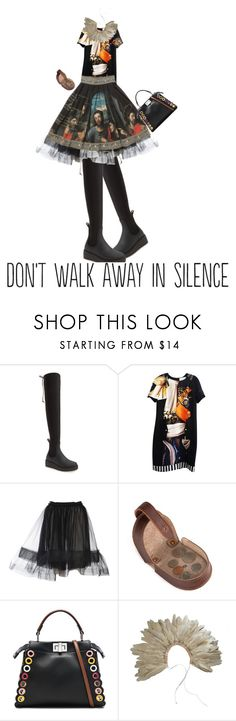 """""""Don't walk away"""" by diannecollier ❤ liked on Polyvore featuring Jeffrey Campbell, Mary Katrantzou, Lanvin, Fendi and polyvoreeditorial"""
