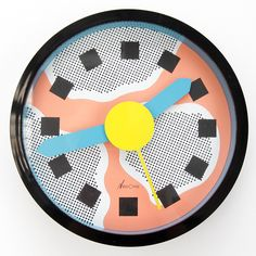 Nathalie Du Pasquier and George Sowden for Neos Memphis clock from the 1980s    DOPE