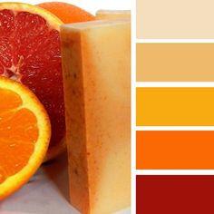 modern interior colors, orange color schemes