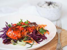 Teriyaki-lohi syntyy vähällä vaivalla - Maku - Aamuset Spaghetti, Cooking, Ethnic Recipes, Dinners, Drinks, Food, Kitchen, Dinner Parties, Drinking