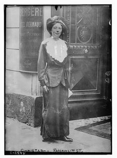 Christabel Pankhurst (22 September 1880 – 13 February 1958) was a suffragette born in Manchester, England. A co-founder of the Women's Social and Political Union (WSPU), she directed its militant actions from exile in France from 1912 to 1913. In 1914 she became a fervent supporter of the war against Germany. After the war she moved to the United States, where she worked as an evangelist for the Second Adventist movement.