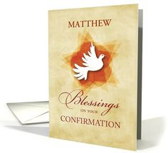 Custom Personalized Name Confirmation Congratulations, Blessings card