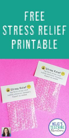 This is the perfect teacher stress relief gift! Yes, it's a bit of a joke - but it's sure to bring a smile to the most stressed out teacher. Click through to grab this FREE printable. It's great for preschool, Kindergarten, 1st, 2nd, 3rd, 4th, 5th, 6th, 7