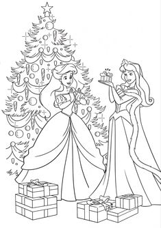 Cartoon Coloring Pages, Disney Coloring Pages, Coloring Book Pages, Coloring For Kids, Adult Coloring, Christmas Gifts For Kids, Christmas Colors, Princess Coloring Sheets, Christmas Coloring Sheets