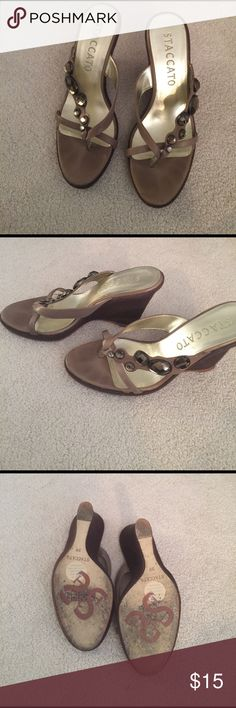 Staccato wedges -run small more like size 8 Lightly worn - comes with dust bag Staccato Shoes Wedges