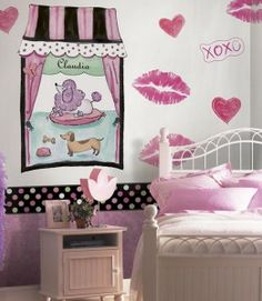 paris themed kids room | room decorating for the perfect black white and pink room