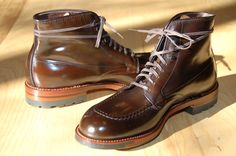 Alden Indy boot in cigar shell cordovan. (These are phresh!)
