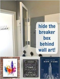 23 best hide a fuse box images in 2016 breaker box covered boxes 19 creative ways to hide the necessary yet ugly fixtures in your home