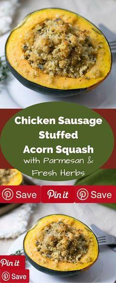Quinoa and Chicken Sausage Stuffed Acorn Squash (Gluten Free ...
