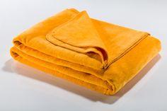 Koc softline żółty