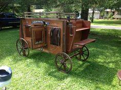 Vintage Orig Life Size Overland Express Stagecoach Western