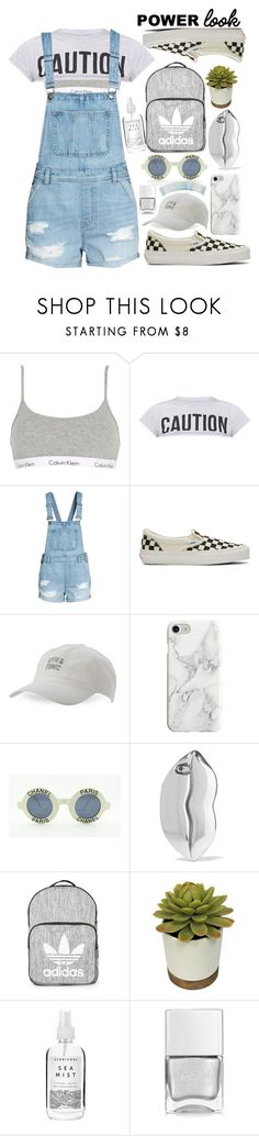"""Power look(Lil' bit crazy)"" by lory-x ❤ liked on Polyvore featuring Calvin Klein Underwear, Vans, Body Rags, Recover, Chanel, STELLA McCARTNEY, Topshop, Herbivore, Nails Inc. and Charlotte Russe"