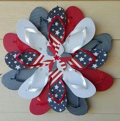 4th Of July Flip Flop Door Hanger