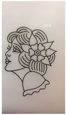 Traditional Tattoo Outline, Traditional Tattoo Stencils, Traditional Tattoo Drawings, Traditional Tattoo Old School, Traditional Tattoo Design, Flash Art Tattoos, Tattoo Flash Sheet, Body Art Tattoos, Woman Tattoos