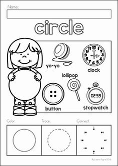 Shape Worksheets for Preschool and Kindergarten. This page of geometry worksheets focuses on shape recognition for the preschool and kindergarten child. Shapes Worksheets, Kindergarten Worksheets, Preschool Activities, Preschool Shapes, Geometry Worksheets, Kindergarten Prep, Preschool Classroom, Preschool Learning, Fun Learning