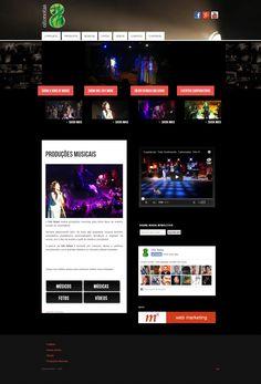 Site para Oito Notas Produções Musicais