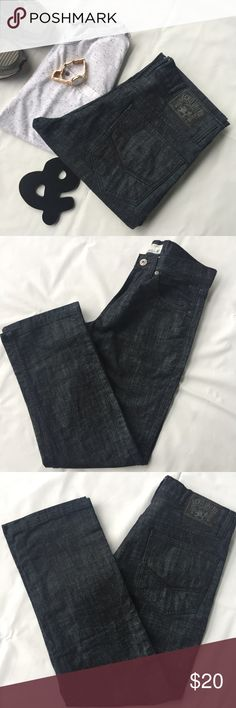 """Ecko Unlimited Jeans Ecko Unlimited Jeans for men. #714. Straight Fit. Low rise. Size 32. Great condition. 30"""" inseam. 5 pockets style. Black with silver woven. Ecko Unlimited Jeans Straight"""