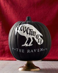 Pumpkin Decor Ideas Inspired by Our Favorite Icons! | Martha Stewart Edgar Allen Poe
